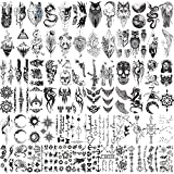 Hotoyannia 72 Sheets Tiny Temporary Tattoos Stickers, Fake Tattoos That Look Real And Last Long