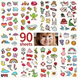 Metker 90 sheets (1000 patterns) kids waterproof Temporary Tattoos, children's temporary tattoo toys,suitable for birthday parties,group activities,toy patterns.