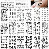 20 Sheets Fake Black Tiny Temporary Tattoo Body Sticker Hand Neck Wrist Art Fashion